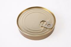 Circular tin can Stock Image
