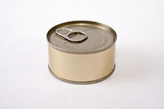 Circular tin can Royalty Free Stock Photography