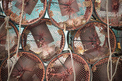 Circular Traps. Traps to catch shellfish in Galicia, Spain Stock Photography