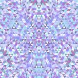 Circular triangle kaleidoscope mandala background - symmetrical vector pattern graphic from colored triangles Royalty Free Stock Photo