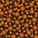 Circular, tribal pattern in brown tones with motifs of an African tribes Surma and Mursi Stock Photography