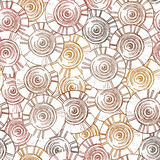 Circular, tribal pattern with motifs of African tribes Surma and Murs Royalty Free Stock Photography