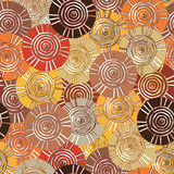 Circular, tribal pattern with motifs of African tribes Surma and Mursi Stock Image