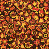 Circular, tribal pattern with motifs of African tribes Surma and Mursi royalty free stock image