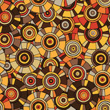 Circular, tribal pattern with motifs of African tribes Surma and Mursi Royalty Free Stock Photography