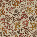 Circular, tribal pattern with motifs of an African tribes Surma and Mursi Stock Photography