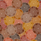 Circular, tribal pattern with motifs of African tribes Surma and Mursi Stock Photography