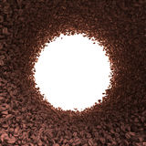 Circular tunnel of coffee beans Royalty Free Stock Image