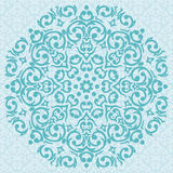 Circular turquoise ornament design Stock Image