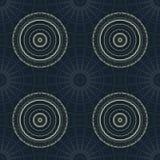 Circular umbrella like seamless pattern vector illustration