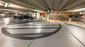 Circular Underground parking garage Royalty Free Stock Photos