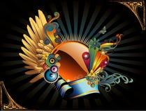 Circular vector banner Royalty Free Stock Images