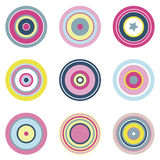Circular Vector Elements. Simple vector elements with beautiful color palette Stock Photo