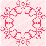 Circular vector ornament as a greeting card Stock Photo