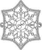 Circular vector ornament. Round pattern mandala. Circular vector ornament. Round pattern mandala style Stock Images