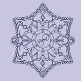 Circular vector ornament. Round pattern mandala. Circular vector ornament. Round pattern mandala style Royalty Free Stock Photo