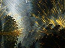 Circular vio los cortes de madera Imagen de archivo
