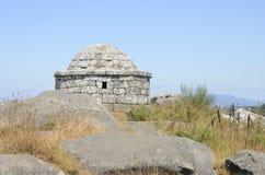 Circular watchtower at Facho Mountain Royalty Free Stock Image