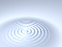 Circular Waves in a Liquid Stock Photo