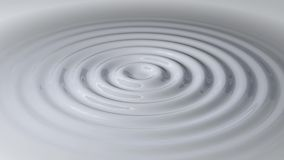 Circular Waves in a White Liquid stock video footage