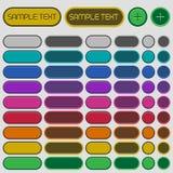 Circular Web Buttons Stock Image