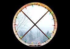 Circular Window Royalty Free Stock Photo