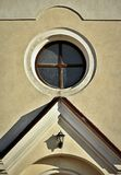 Circular window above the entrance Royalty Free Stock Image