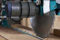 Circular wood buzz saw for wood Royalty Free Stock Images