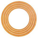 Circular wooden frame Stock Photo