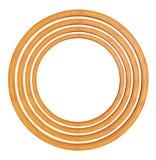 Circular wooden frame Stock Image