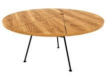 Circular wooden table Royalty Free Stock Photos