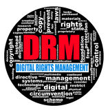Circular wordcloud drm digital rights management Royalty Free Stock Photos