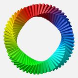 Circulary arranged colorful shapes. 3d style vector illustration. Suitable for any banner, ad, technology and abstract themes Stock Photos