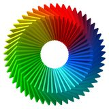 Circulary arranged colorful shapes. 3d style vector illustration. Suitable for any banner, ad, technology and abstract themes Royalty Free Stock Image
