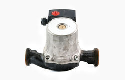 Circulating pump. A circulating pump for water heating systems, isolated Stock Image