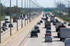 Circulation 1 d'autoroute urbaine Images libres de droits