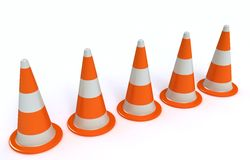 Circulation-cônes Images stock