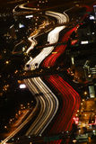 Circulation d'heure de pointe - Atlanta la nuit Photos libres de droits