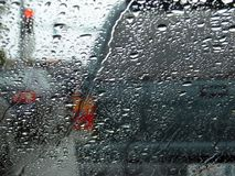 Circulation de jour pluvieux Image libre de droits