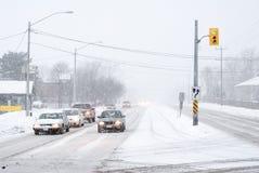 Circulation de l'hiver Image libre de droits