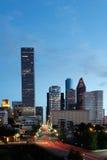 Circulation de nuit à Houston Images stock