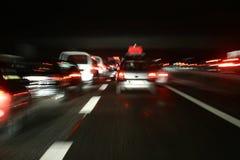 Circulation de nuit Image stock