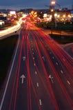 Circulation de nuit Image libre de droits