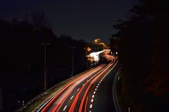 Circulation de nuit Photos stock