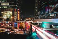 Circulation de nuit de Bangkok Photos stock