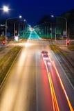 Circulation de nuit en ville Image stock