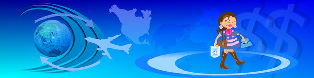 Circulation et commerce électronique mondiaux Photographie stock libre de droits