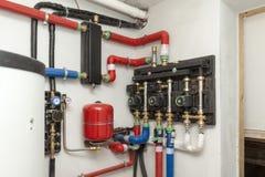 Circulation pump energy-saving. In the boiler room Stock Photo