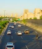 Circulation routière de Téhéran l'iran Images stock