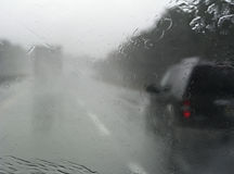 Circulation sous la pluie Image libre de droits